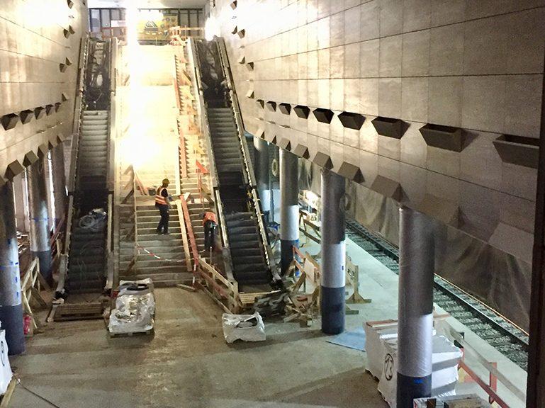 U-Bahnhof Unter den Linden: Bau X Kunst gucken