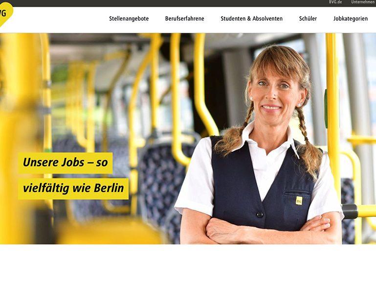 Preis für BVG-Karriere-Website