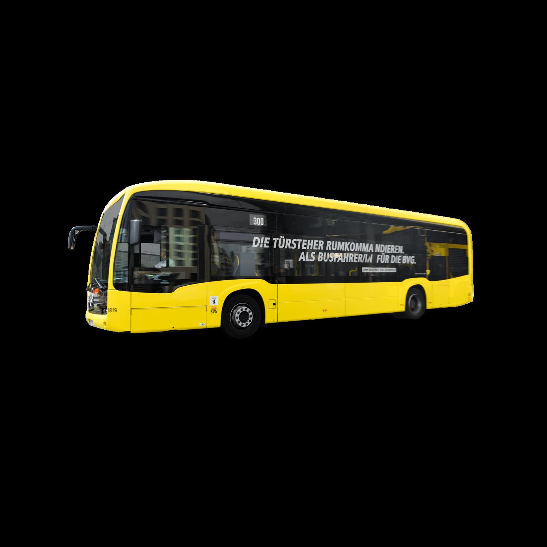 Ein E-Bus von der Seite