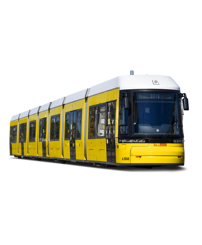 A tram from the side