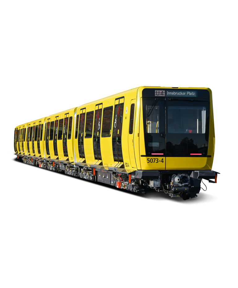 An underground train from the side