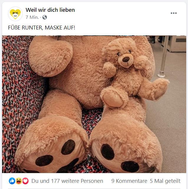 Facebook-Post Teddy