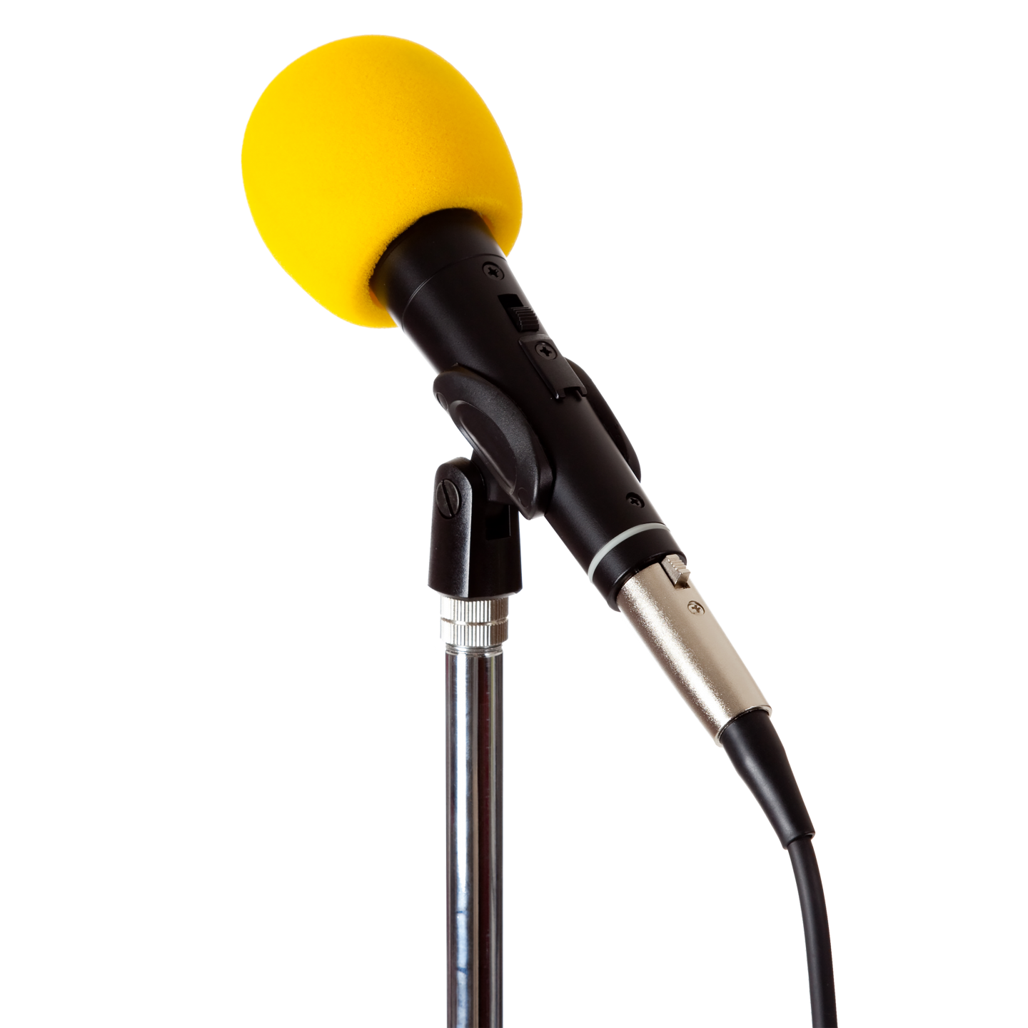 A yellow microphone
