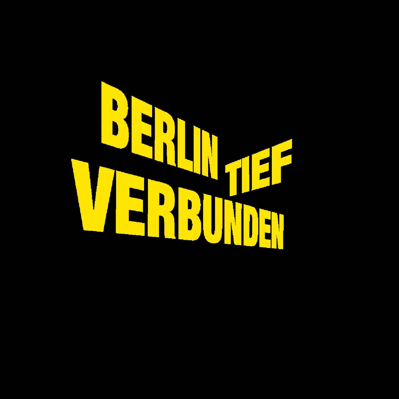 Schriftzug Berlin tief verbunden